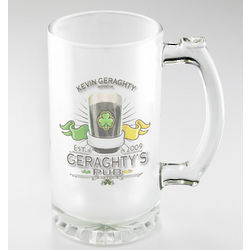 Personalized Frosted Irish Pub Sports Mugs