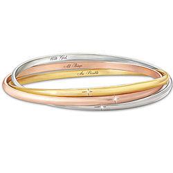 The Trinity 3 Interlocking Diamond Bangle Bracelet
