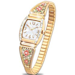 American Rose Watch with Mother of Pearl Face and Crystal Accents