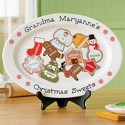 Personalized Christmas Sweets Platter