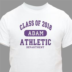 Class of Athletic Graduation Personalized T-Shirt