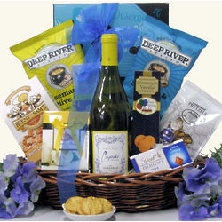 Cupcake Vineyards Red or White Wine Birthday Gift Basket
