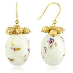 Alchimia Oval Gold Foil Drop Earrings