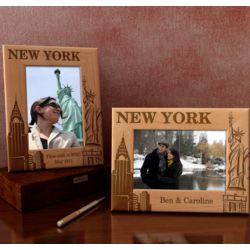 Personalized New York Wooden Picture Frame