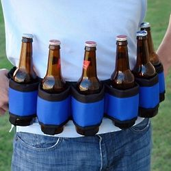 Deluxe Six-Pack Beer Belt in Blue