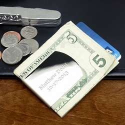 Silver-Plated Personalized Money Clip