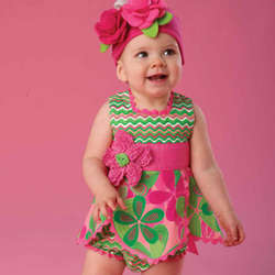 Baby's Petal Top and Bloomer