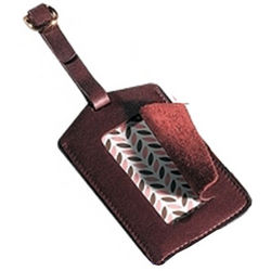 Leather Luggage ID Tag