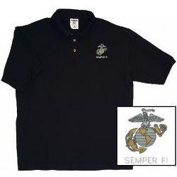 USMC EGA and Semper Fi Polo Shirt