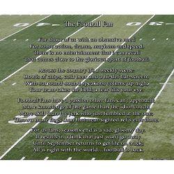 The Football Fan 8x10 Poem Print