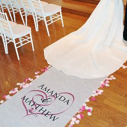 Embracing Hearts Personalized Wedding Aisle Runner