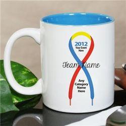 Personalized Awareness Shoelace Ribbon Mug