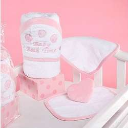 Pink Baby Bath Towel Gift Set