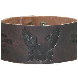 Leather Wriststrap with Embossed Eagle and Bible Verse