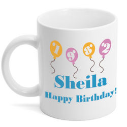 Personalized Birthday Balloons Mug