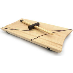 Handcrafted Wood Sushi Plate with Chopsticks