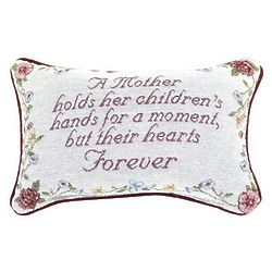 Mother Holds a Child's Heart Forever Pillow