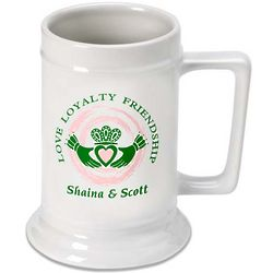 Personalized Claddagh Beer Stein