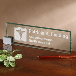 Personalized Medical Practice Desk Nameplate