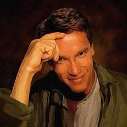 Arnold Schwarzenegger Oil Painting Giclee