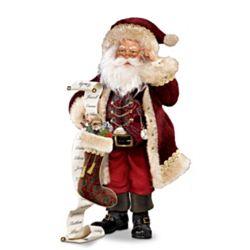 Thomas Kinkade St. Nicholas Naughty or Nice Santa Figurine