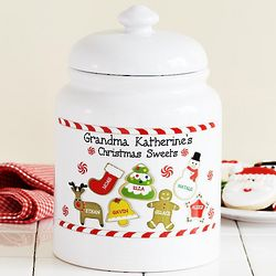 Personalized Christmas Sweets Cookie Jar