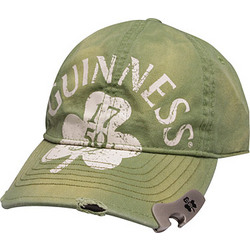 Guinness Distressed Cap with Bottle Opener