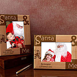 Personalized Santa & Me Wooden Picture Frame