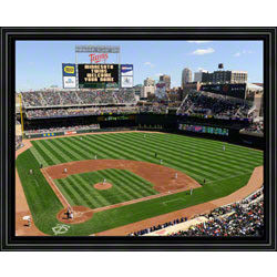 Customized Minnesota Twins Scoreboard Framed Photograph