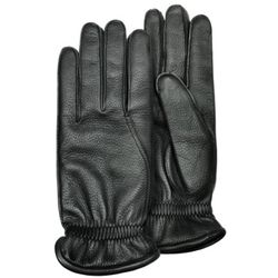 Men's Black Deerskin Leather Gloves with Cashmere Lining