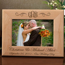 Interlocking Monogram Wooden Picture Frame