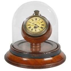 Victorian Desk Clock with Removable Pocket Watch