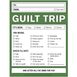 Guilt Trip Note Pad