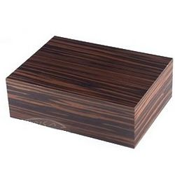 Zebra Wood 50 Count Cigar Humidor