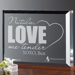 Personalized Love Me Tender Elvis Romantic Plaque
