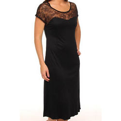 Carmen Lace Top Short Sleeve Gown
