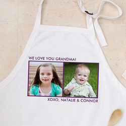 2 Pictures Personalized Photo Apron