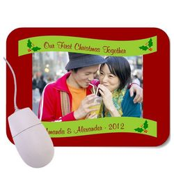 Our First Christmas Photo Mouse Pad
