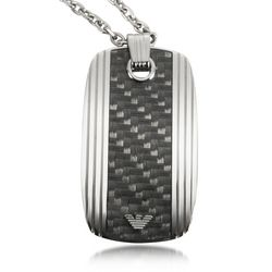 Men's Emporio Armani Eagle Logo Stainless Steel Necklace