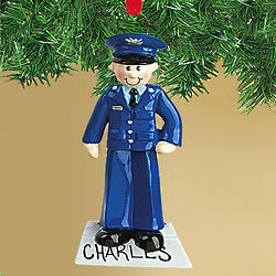Personalized Air Force Officer Ornament