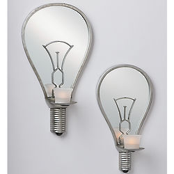 Light Bulb Mirrored Wall Sconces