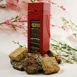 Red Wine Box of Assorted Brownies