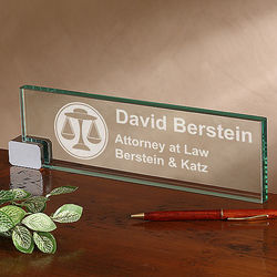 Law Office Engraved Desk Nameplate