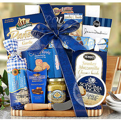 Salami and Cheese Board Gift Basket