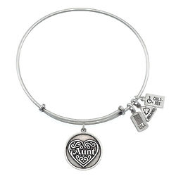 Wind and Fire Aunt Charm Bangle Bracelet
