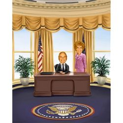 Personalized Mr. President and First Lady Caricature