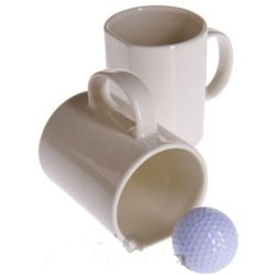 Golfer's Ceramic Putting and Drinking Mug