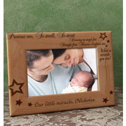 Personalized What a Miracle You Are Wooden Picture Frame