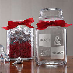 Personalized Sweetest Love Candy Jar