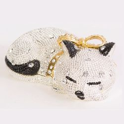 Sleeping Kitty Cat Crystal Trinket Box